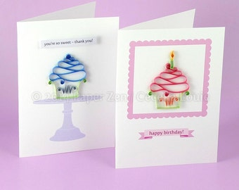 cupcake birthday card quilling patterns pdf tutorial