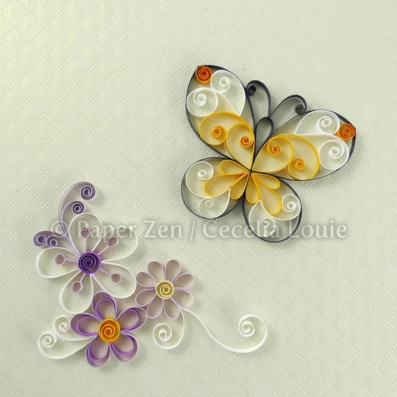 Flowers Quilling Patterns Pdf Tutorial Etsy