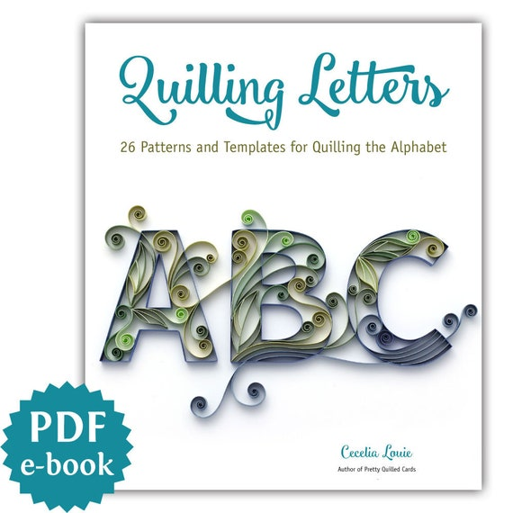 Creating a decrative letter for quilling (part 2/10). Mov youtube.