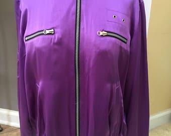 Vintage Purple Silk Jacket