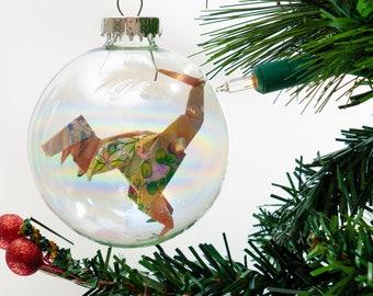 Custom Ornament Wooden Ornament Handmade Ornament Personalized Ornament Dinosaur Christmas Ornament Boho Christmas Child Ornament