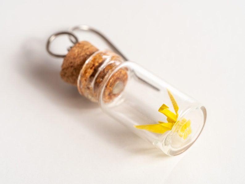 Origami earrings micro crane in jars Choose your pair