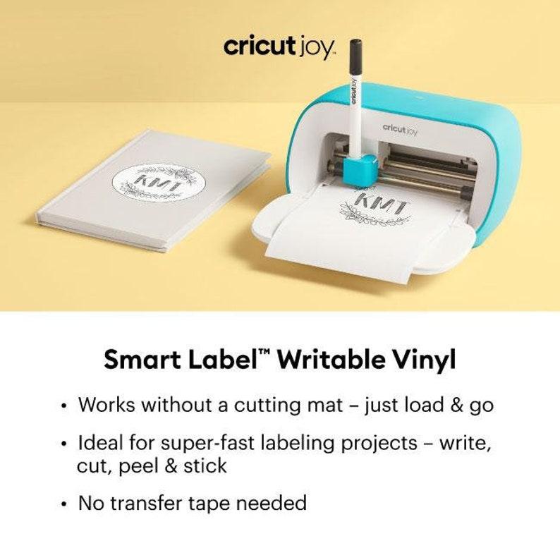 Cricut Joy Smart Label Writable Vinyl Adhesive Decal Roll