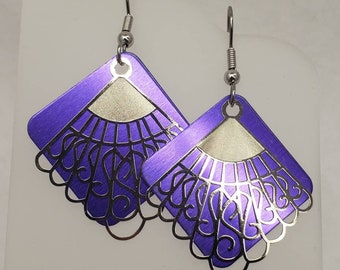 Victorian Swirl Filigree Earrings - choose your color