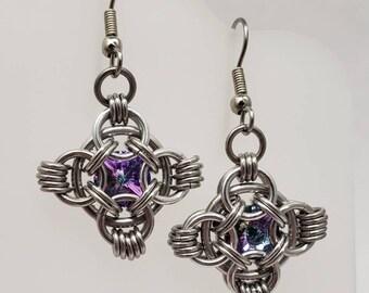Crystal Queen's Quilt Earrings