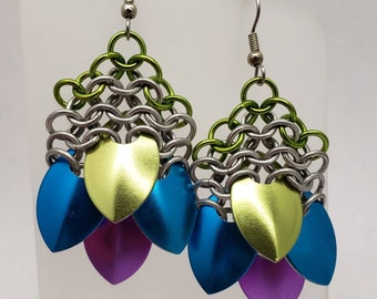 Tropical Fish Scale Earrings