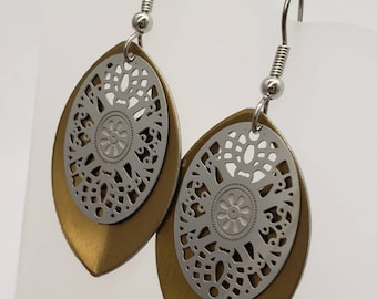 Mirror Filigree Earrings - choose your color