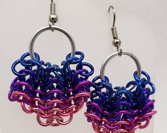 Mermaid Tail Earrings - Blue, Purple, Violet, Pink
