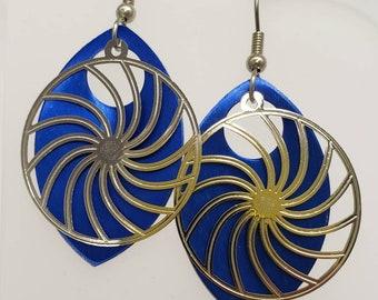 Pinwheel Filigree Earrings - choose your color