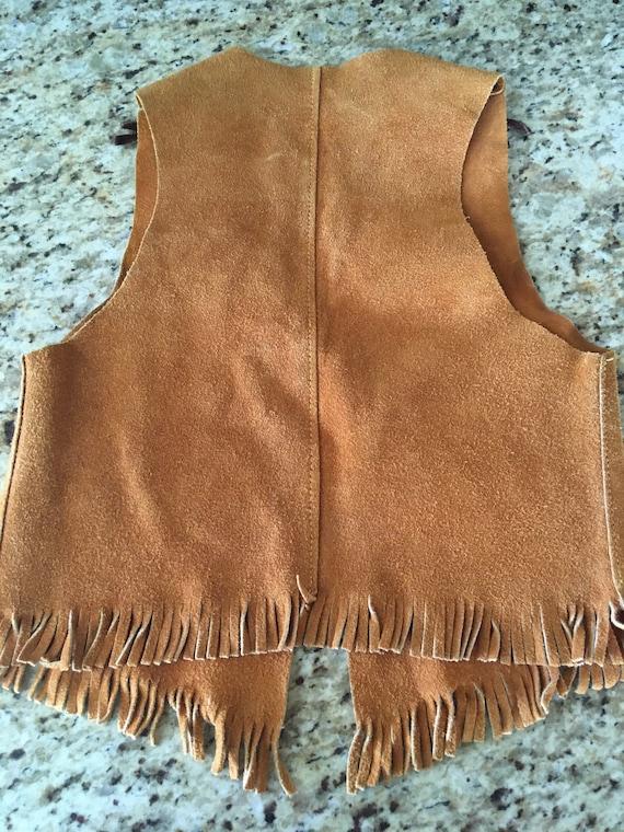 Vintage suede vest unisex cowboy sheriff costume S-M