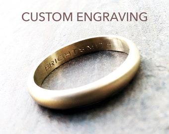 Inside Engraved Ring Etsy