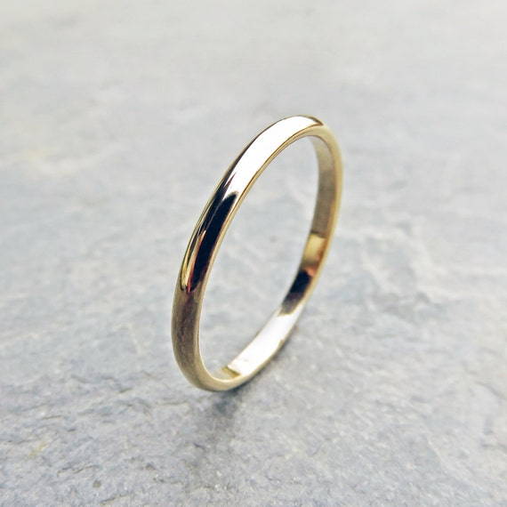 3 mm Classic 14k Gold Wedding Band Yellow White Solid 14k Gold Wedding Ring or Rose Gold Traditional Half Round Wedding or Promise Ring