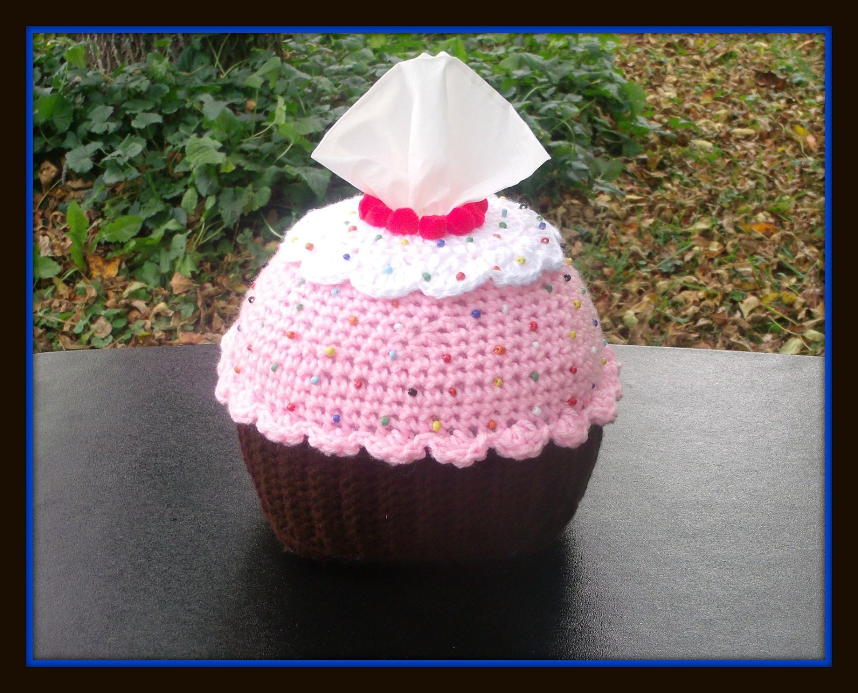 Cup Cake Tissue Holder Crochet Pattern | Etsy