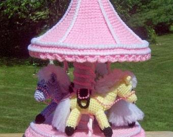 Pony Carousel Gift Trinket Box Crochet Pattern