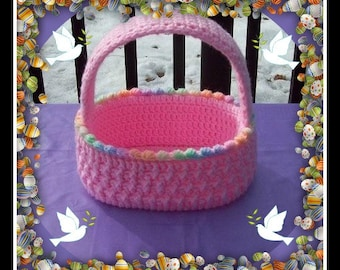 Beautiful Easter Basket For Boy Or Girl.Just Change The Color.