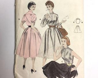 Vintage Sewing Pattern Women's 50's Butterick 7198, Dress, Shirt, Skirt Separates (XS)