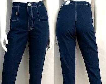 Vintage 80's NOS, Unworn, Maverick Jeans, High Waisted, Denim (S)