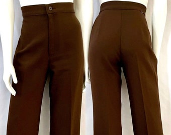 Vintage Women's 70's Levi's, Brown, High Waisted, Straight Leg, Pants (L)