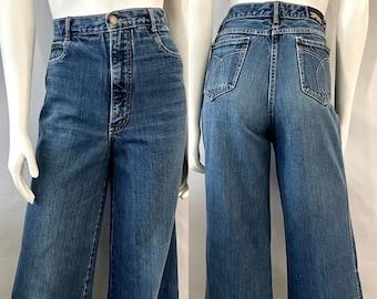 Vintage Women's 70's Brittania, Bell Bottom Jeans, Denim (L)