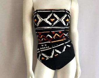 Vintage Swimwear, Women's 80's One Piece, Swimsuit by Longitude (XS)