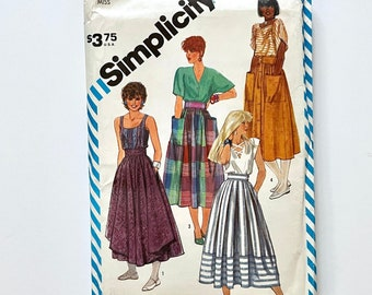 Vintage 80's Uncut Simplicity 8338, Skirts In Two Lengths (XS)