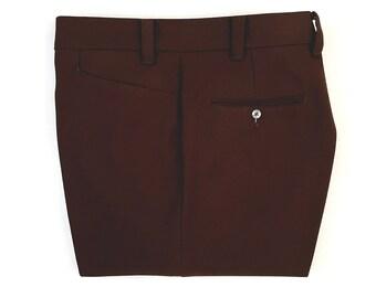 Vintage Men's 70's Levi's Panatela, Bootcut Leg, Brown, Polyester, Pants (W38)