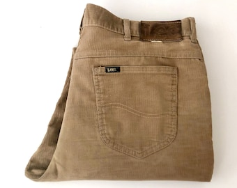 e51cc97b Vintage Men's 70's Lee Corduroy Pants, Tan, Straight Leg (W34)