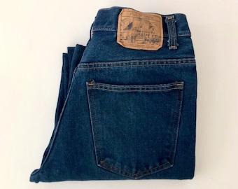 5acfc417fff Vintage Men's 70's Plain Pockets Jeans, Straight Leg, Dark Wash, Denim (W31)
