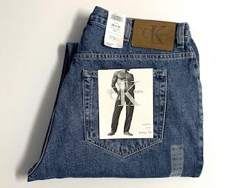 Vintage Men's 90's NOS, CK Jeans, Easy Fit, Denim (W38)