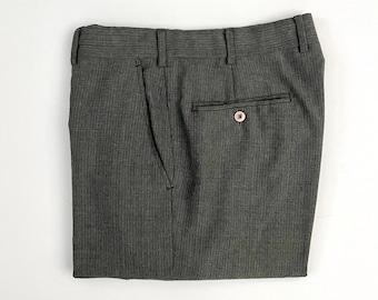 Vintage Men's 80's Gray, Striped, Straight Leg, Pants (W32)