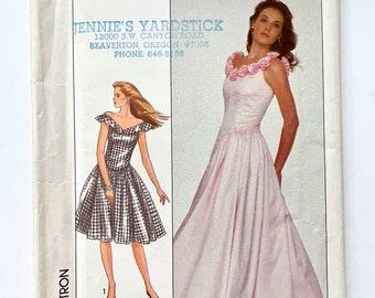 Vintage 80's Uncut, Simplicity 8481, Dress In Two Lengths (XXS)