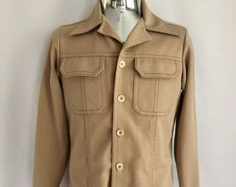 Vintage Men's 70's Levi's, Panatela, Leisure Jacket, Tan (M)