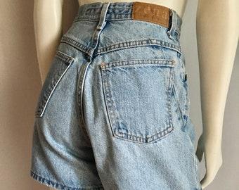 Vintage Women's 90's Zena, Jean Shorts, High Waisted, Medium Wash, Denim (M)
