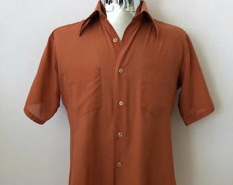 eabbb5e8d Vintage Men s 70 s Burnt Orange