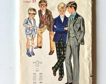 Vintage Sewing Pattern Toddler 60's Partially Uncut, Butterick 5411, Jacket, Vest, Pants, Shorts (2T)
