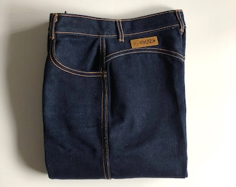 Vintage Women's 80's Unworn, Gitano Jeans, High Waisted, Dark Wash, Denim (S)