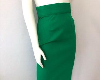 5edd55502fb4 Vintage Women's 70's Kelly Green, Pencil Skirt, Polyester, Knee Length (S)