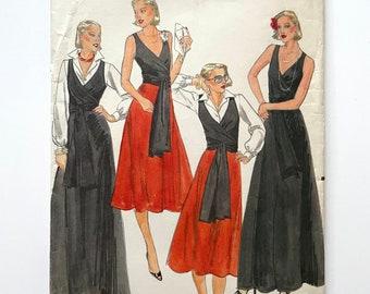 Vintage 70's Uncut, Butterick 5653, Blouse, Top, Skirt (M)