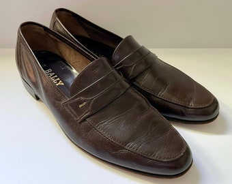 Vintage 90's Bally Of Switzerland, Tanto, Brown, Leather Loafers (Size 10)
