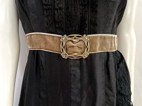 Vintage Women's 90's Anna Sui, Black, Silk, Lace,… - image 4