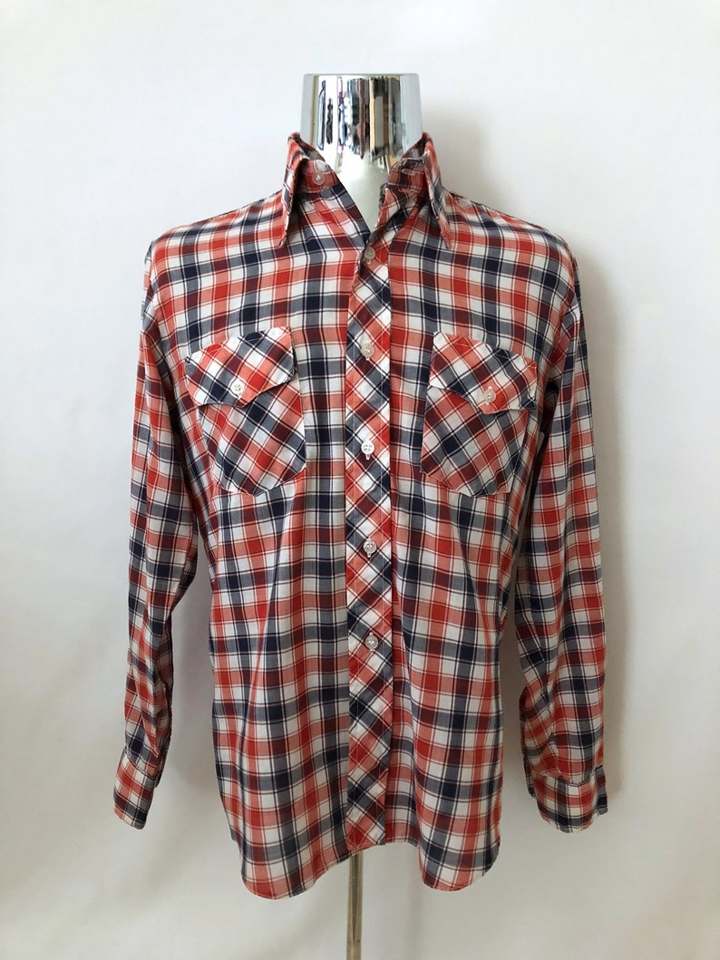 fb3d72b30 Red White And Blue Checkered Shirt | Top Mode Depot