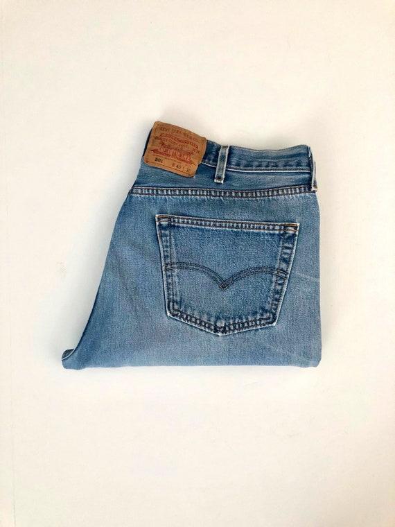 Vintage Men's 90's Levi's 501, Jeans, Distressed,… - image 1