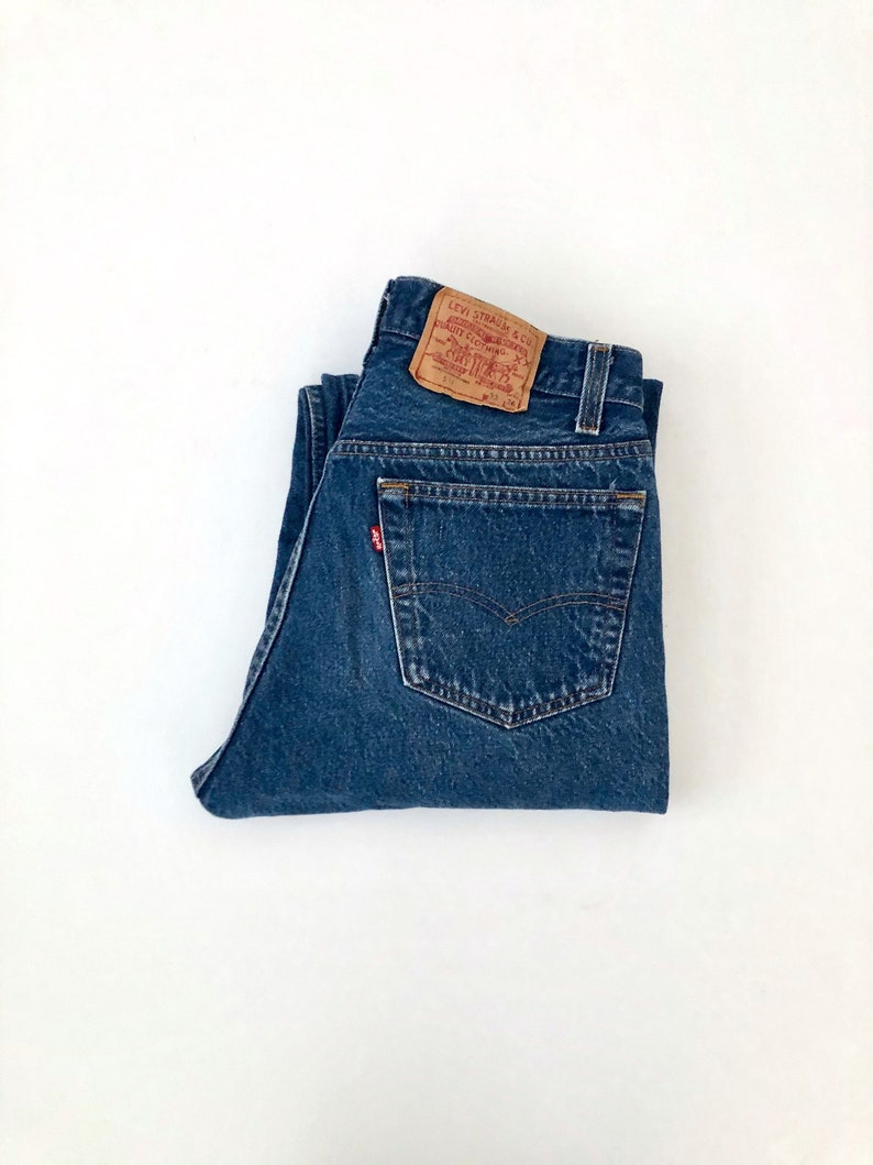 Vintage Men's 80's Levi's 501 Jeans Blue Red image 0
