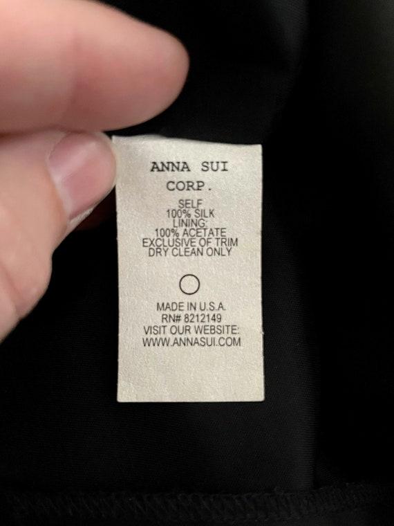Vintage Women's 90's Anna Sui, Black, Silk, Lace,… - image 6