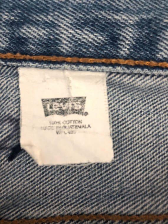 Vintage Men's 90's Levi's 501, Jeans, Distressed,… - image 5
