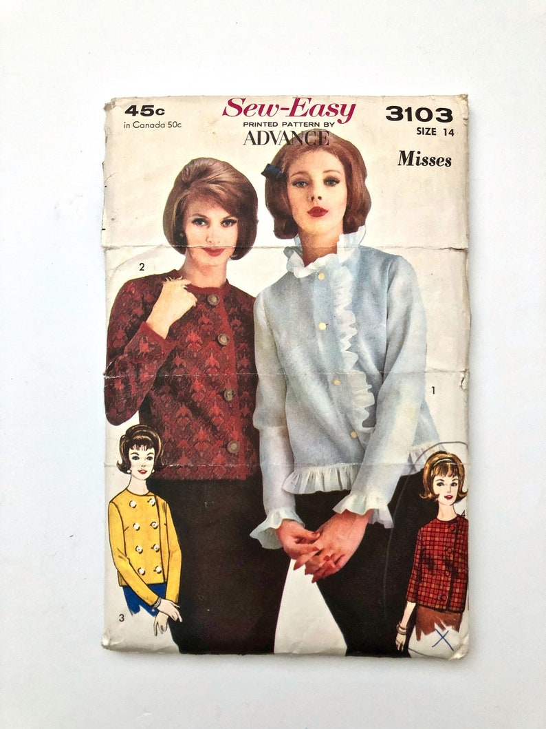Vintage Sewing Pattern Women's 60's Mostly Uncut image 0