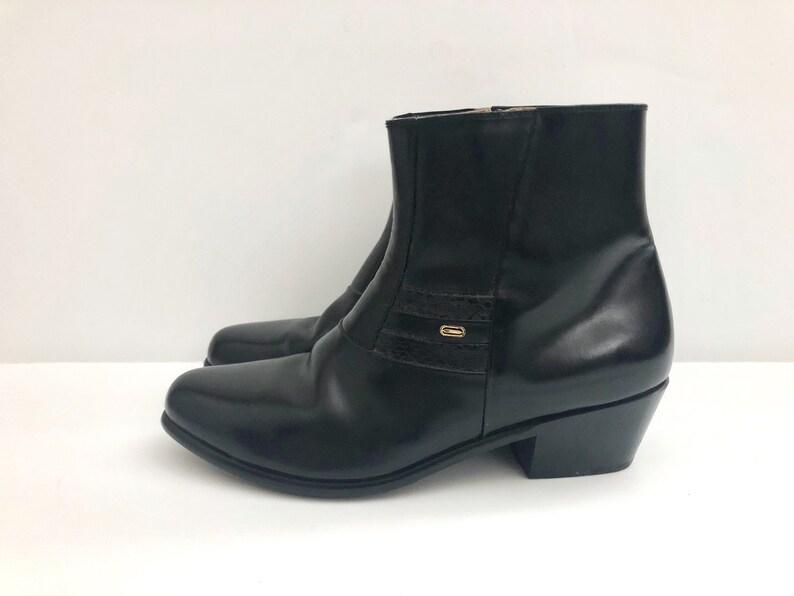 Vintage Men's Shoes 70's Mod Black Chelsea Boots image 0