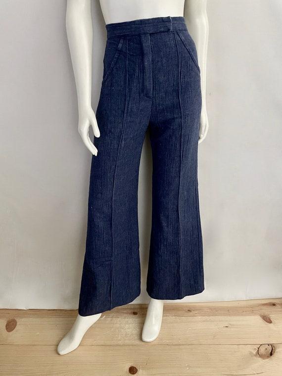 Vintage Women's 70's Bell Bottom Jeans, HIgh Waist