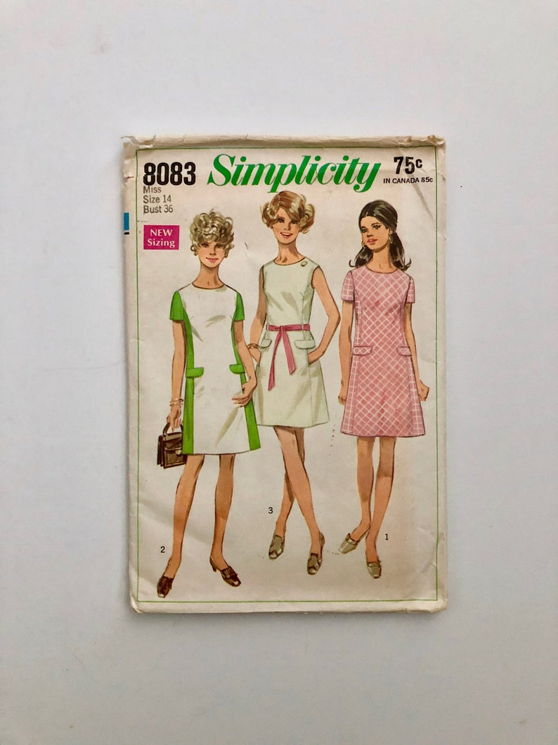 Vintage Women's Sewing Pattern 60's Simplicity 8083 image 0