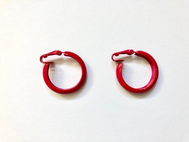 Vintage Jewelry Women's 80's Raspberry Red Thin image 0